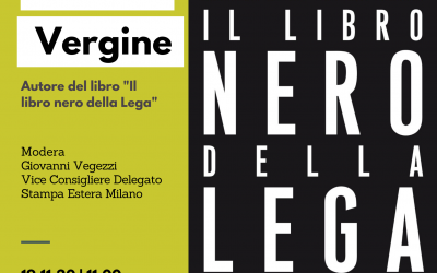 """Stefano Vergine, autore del libro """"Il libro nero della Lega"""""""