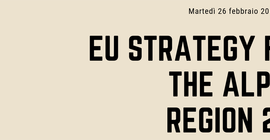 EU Strategy for the Alpine region 2019